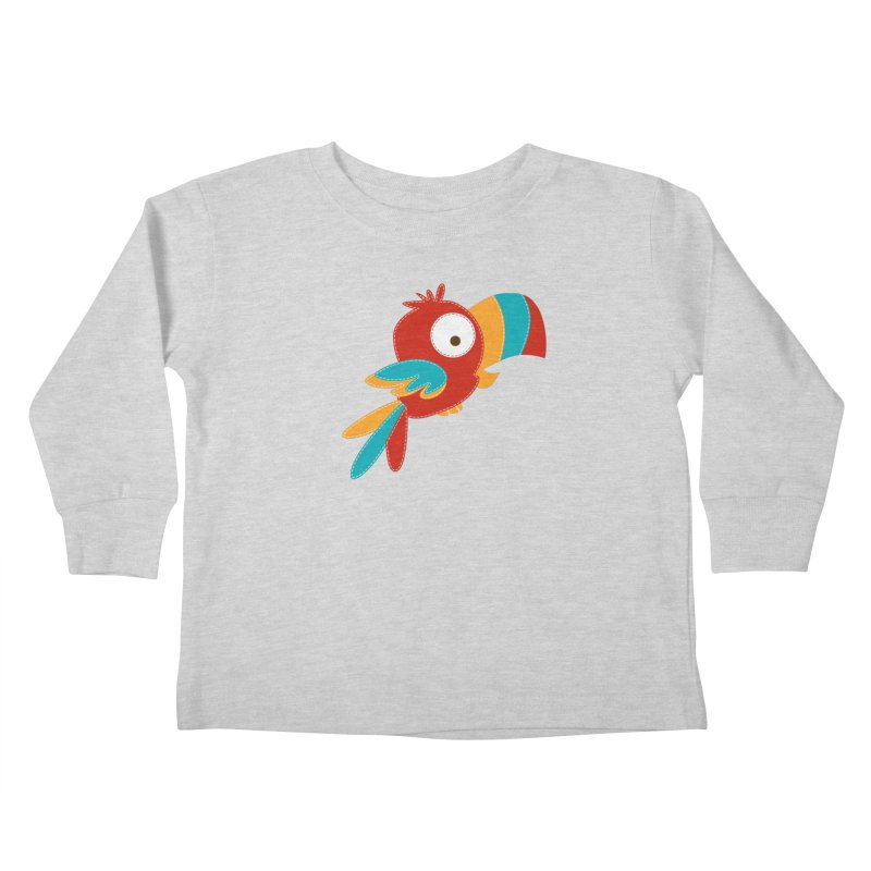 Paco the Tropical Bird Kids Toddler Longsleeve T-Shirt by mafemaria