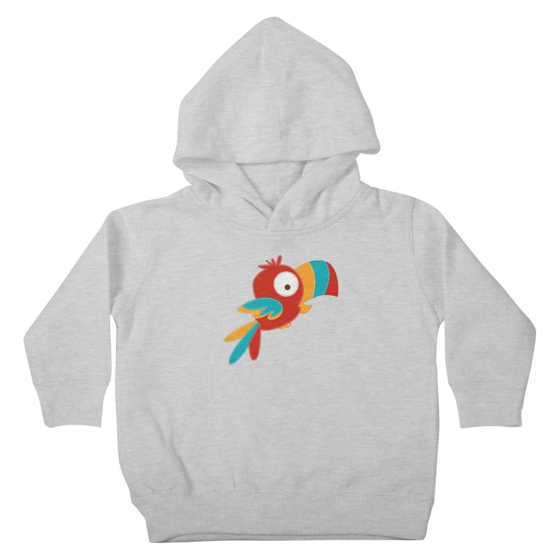 Paco the Tropical Bird Kids Toddler Pullover Hoody by mafemaria