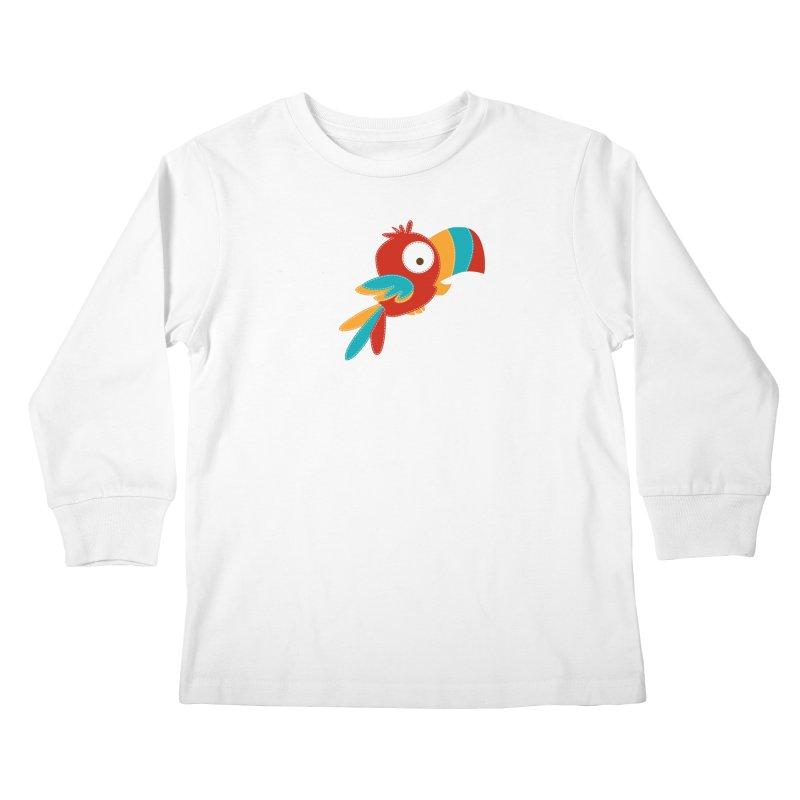 Paco the Tropical Bird Kids Longsleeve T-Shirt by mafemaria