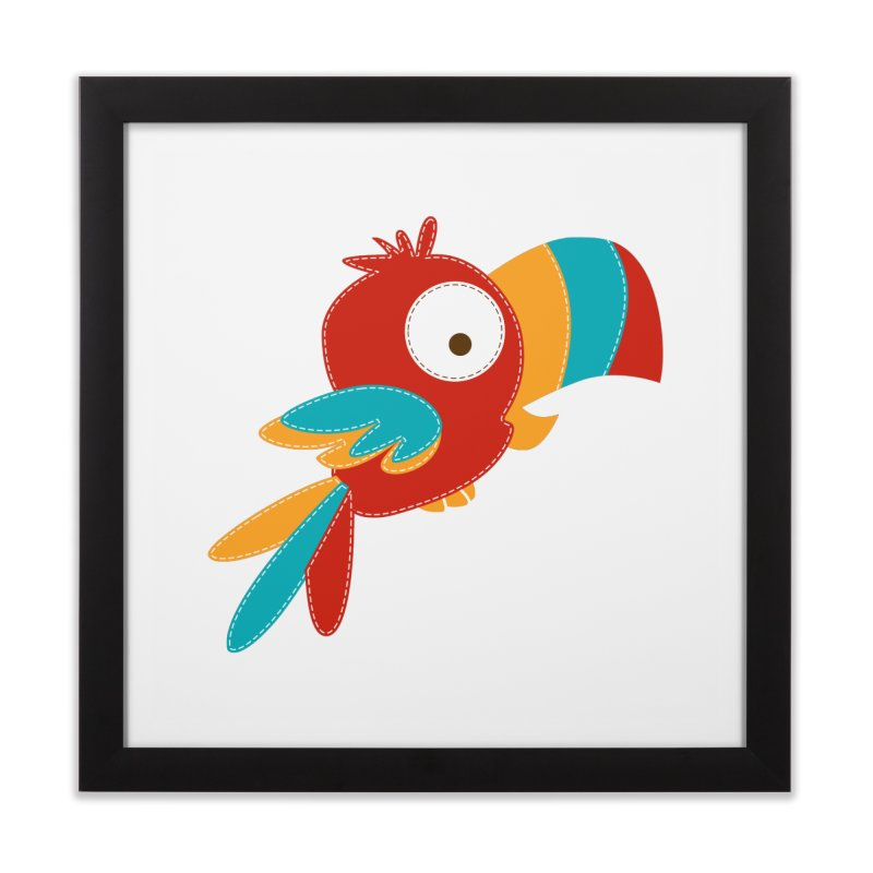 Paco the Tropical Bird Home Framed Fine Art Print by mafemaria