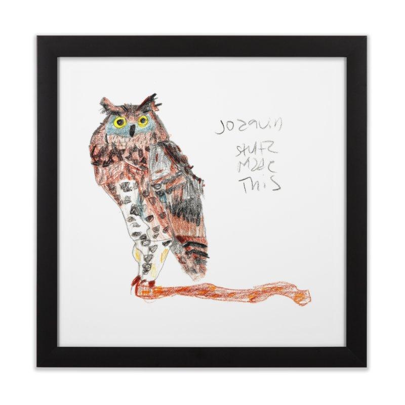 Owl • Buho Home Framed Fine Art Print by mafemaria