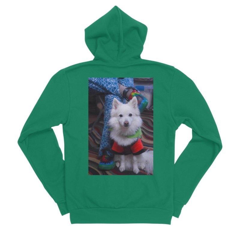 Joey The Magical Dog Colorful Men's Sponge Fleece Zip-Up Hoody by Joey The Magical Dog