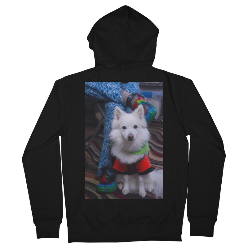 Joey The Magical Dog Colorful Women's French Terry Zip-Up Hoody by Joey The Magical Dog