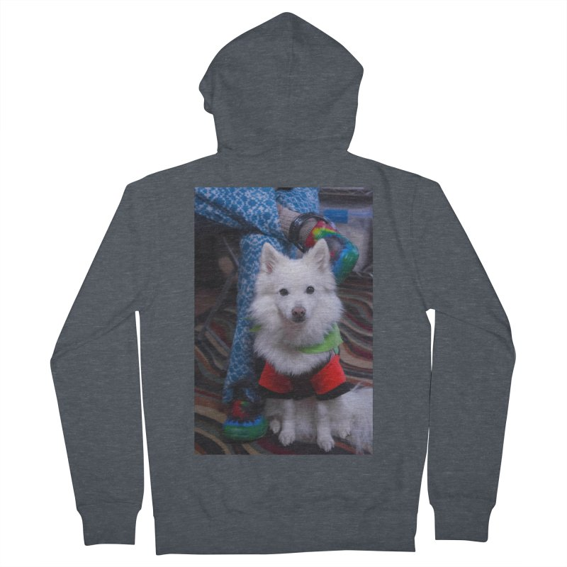 Joey The Magical Dog Colorful Men's French Terry Zip-Up Hoody by Joey The Magical Dog
