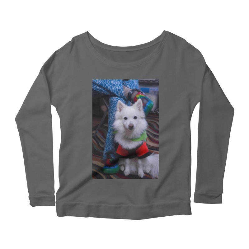 Joey The Magical Dog Colorful Women's Scoop Neck Longsleeve T-Shirt by Joey The Magical Dog