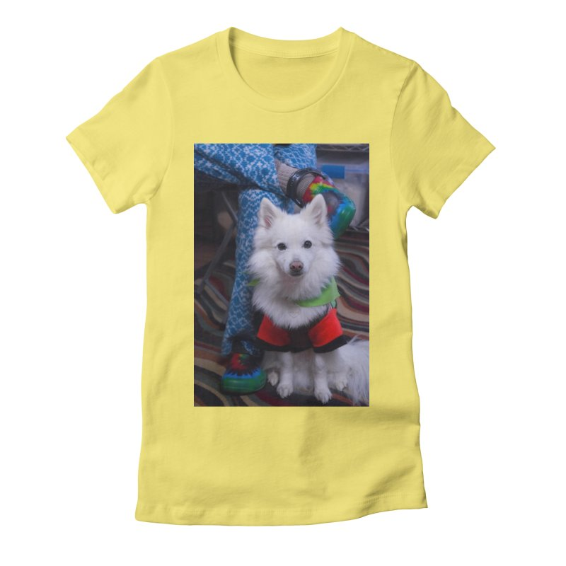 Joey The Magical Dog Colorful Women's Fitted T-Shirt by Joey The Magical Dog