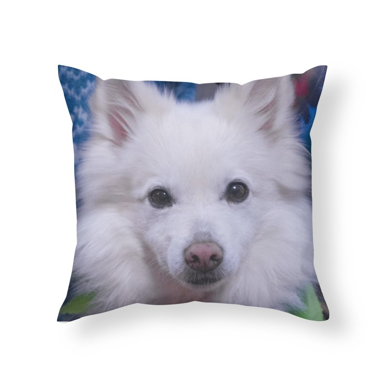 Joey The Magical Dog Colorful Home Throw Pillow by Joey The Magical Dog