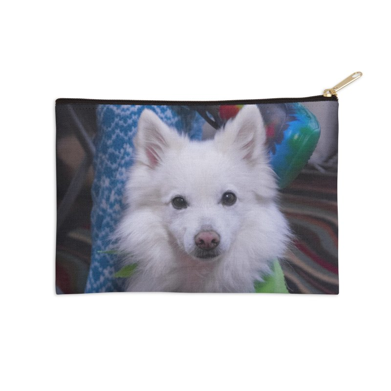 Joey The Magical Dog Colorful Accessories Zip Pouch by Joey The Magical Dog