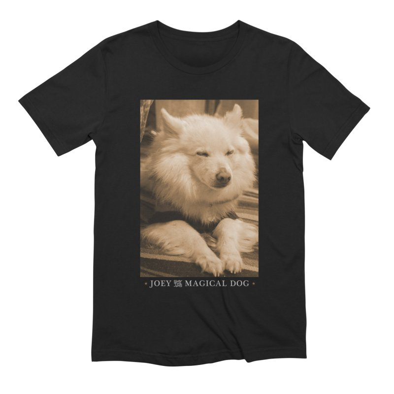 Joey Asleep Sepia Tone Men's T-Shirt by Joey The Magical Dog