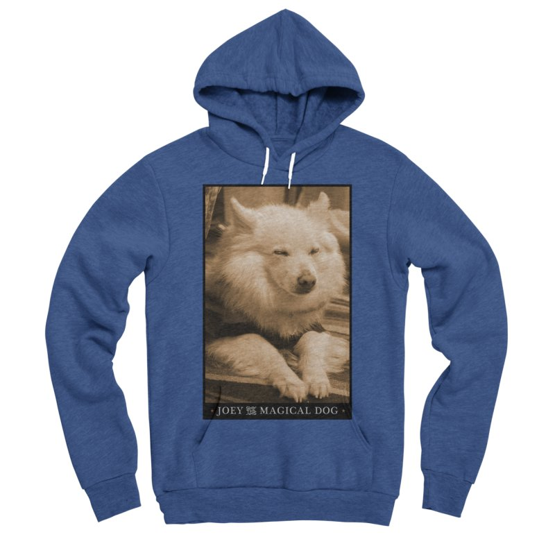 Joey Asleep Sepia Tone Men's Sponge Fleece Pullover Hoody by Joey The Magical Dog