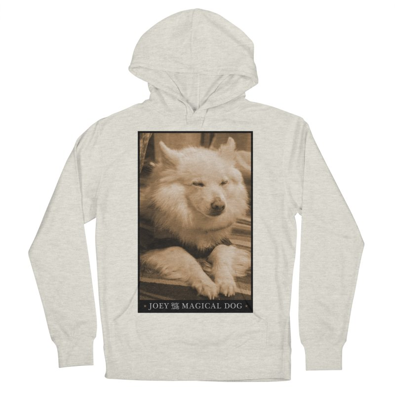 Joey Asleep Sepia Tone Men's French Terry Pullover Hoody by Joey The Magical Dog
