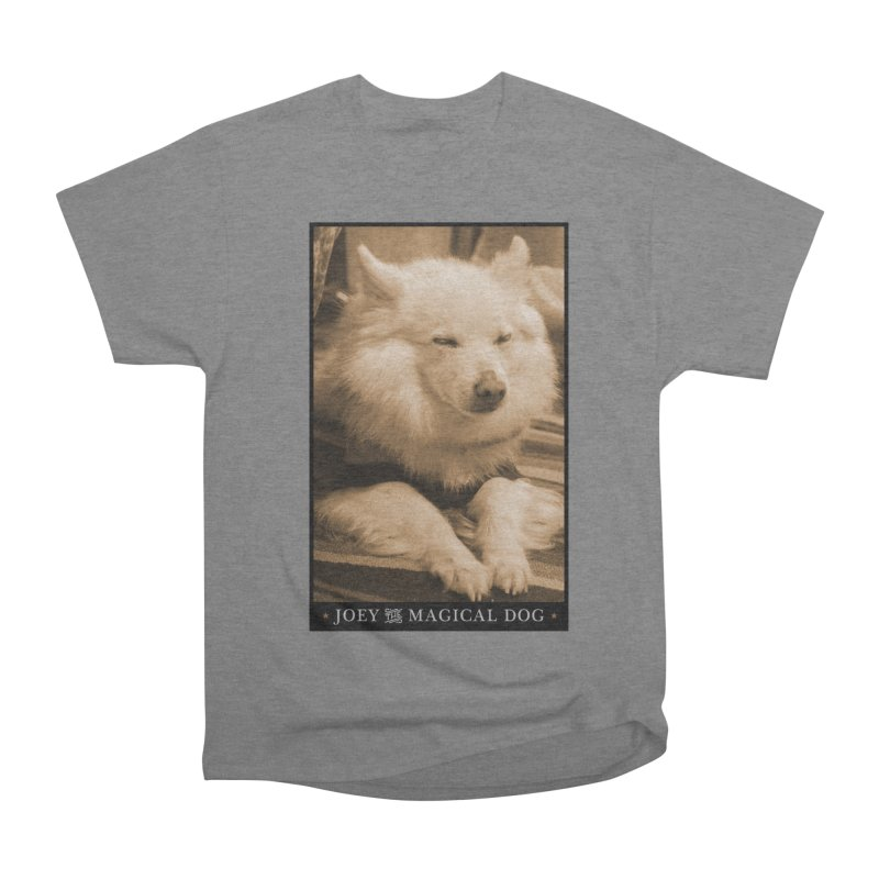Joey Asleep Sepia Tone Women's Heavyweight Unisex T-Shirt by Joey The Magical Dog