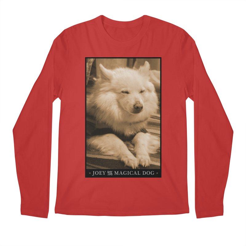 Joey Asleep Sepia Tone Men's Regular Longsleeve T-Shirt by Joey The Magical Dog