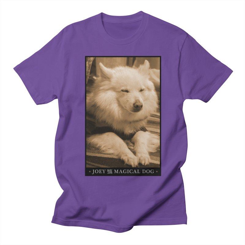 Joey Asleep Sepia Tone Women's Regular Unisex T-Shirt by Joey The Magical Dog