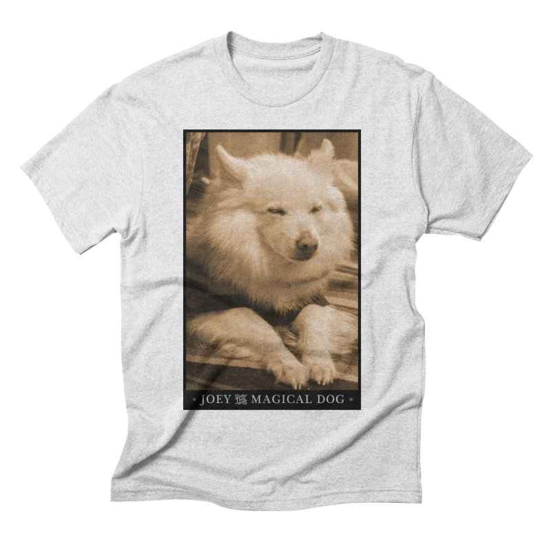 Joey Asleep Sepia Tone Men's Triblend T-Shirt by Joey The Magical Dog