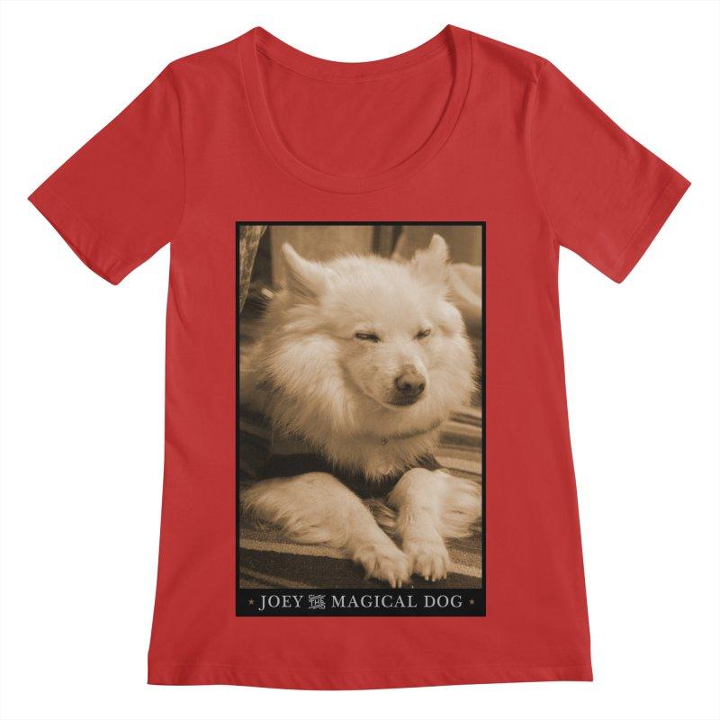 Joey Asleep Sepia Tone Women's Regular Scoop Neck by Joey The Magical Dog