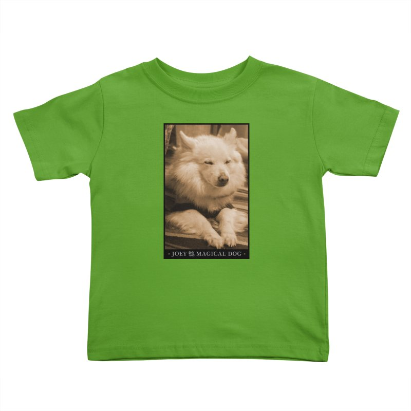 Joey Asleep Sepia Tone Kids Toddler T-Shirt by Joey The Magical Dog