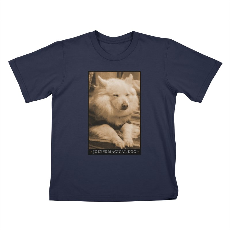 Joey Asleep Sepia Tone Kids T-Shirt by Joey The Magical Dog