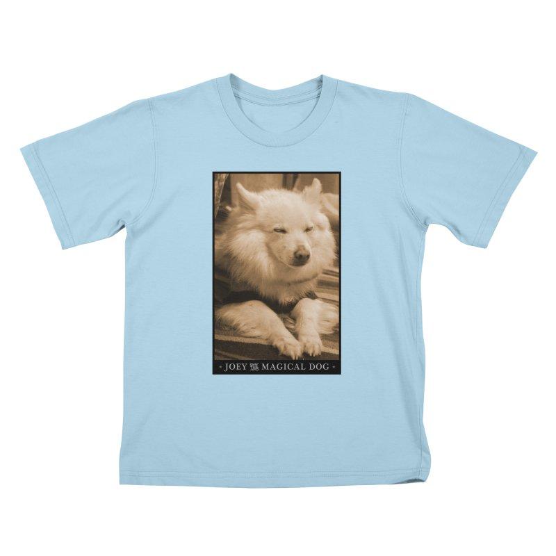 Joey Asleep Sepia Tone Kids T-Shirt by Joey The Magical Dog