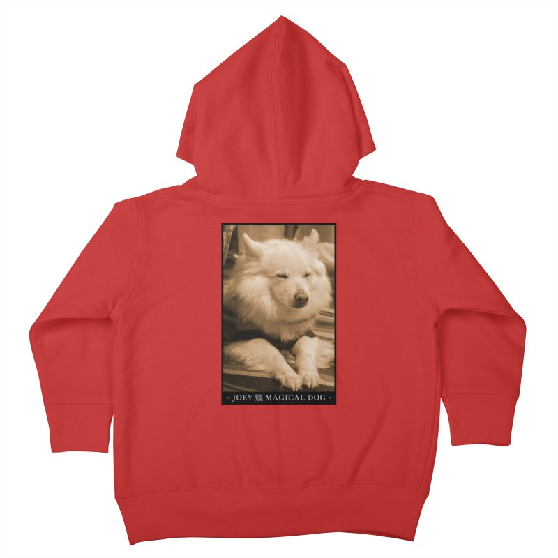Joey Asleep Sepia Tone Kids Toddler Zip-Up Hoody by Joey The Magical Dog