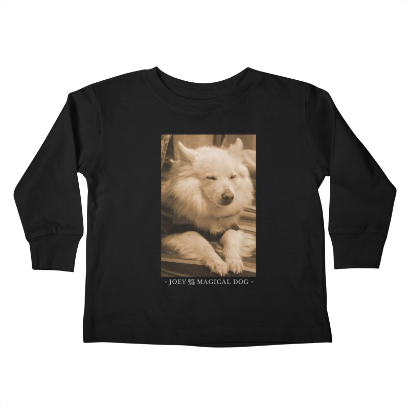 Joey Asleep Sepia Tone Kids Toddler Longsleeve T-Shirt by Joey The Magical Dog