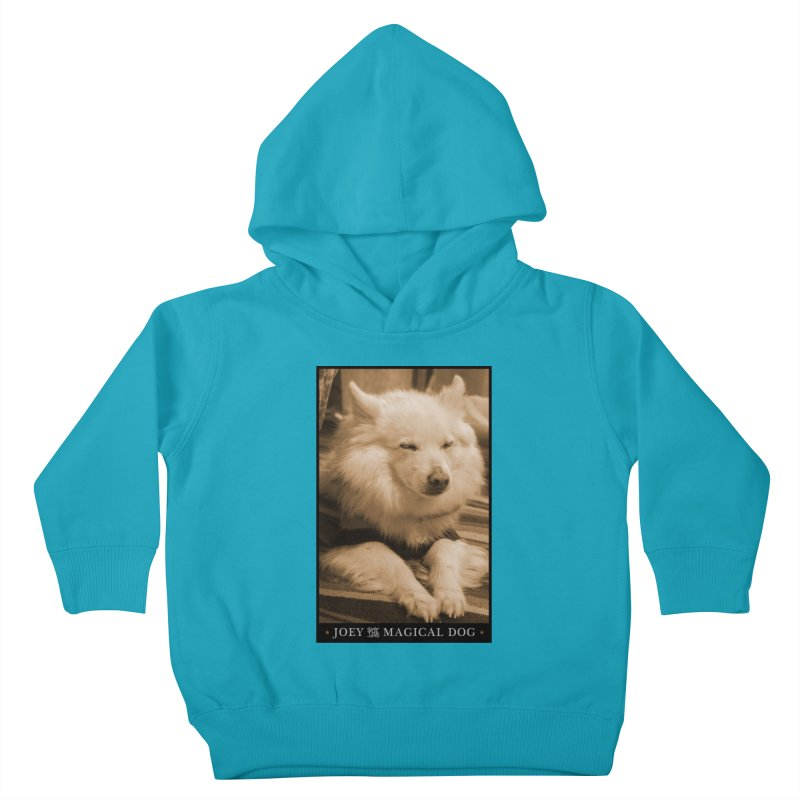 Joey Asleep Sepia Tone Kids Toddler Pullover Hoody by Joey The Magical Dog