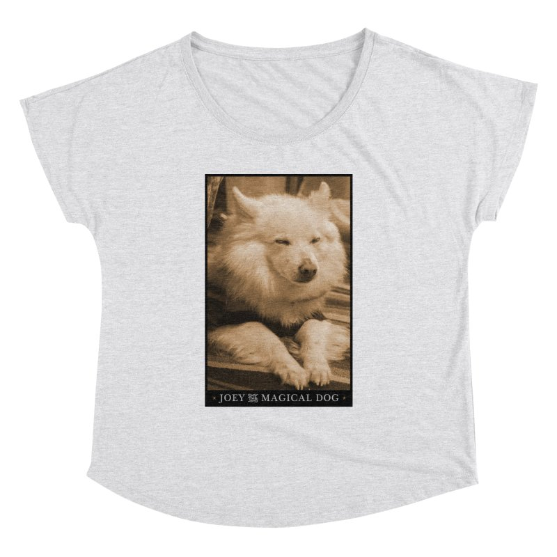 Joey Asleep Sepia Tone Women's Dolman Scoop Neck by Joey The Magical Dog