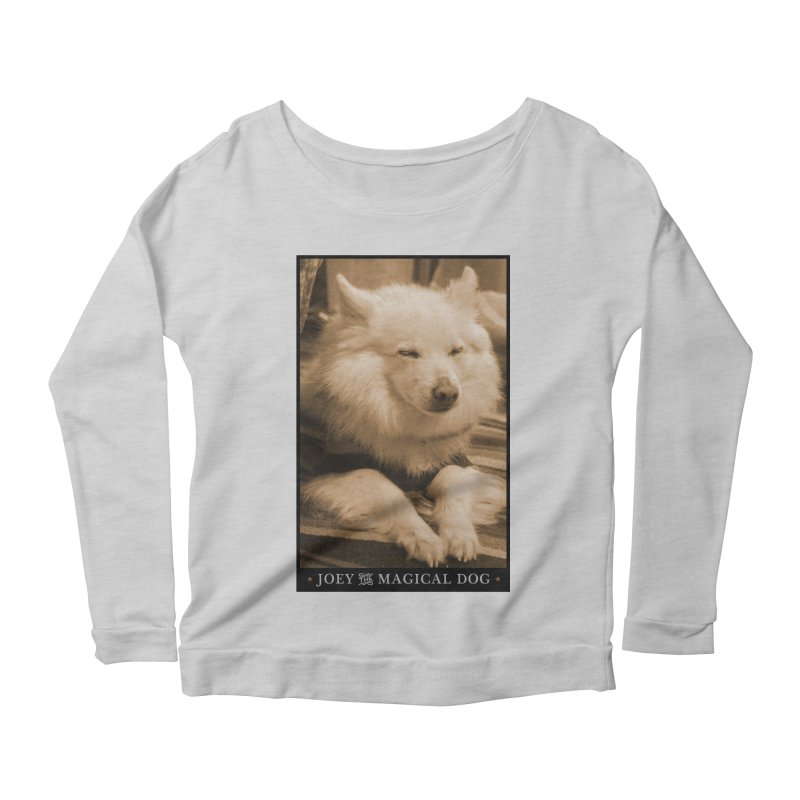 Joey Asleep Sepia Tone Women's Scoop Neck Longsleeve T-Shirt by Joey The Magical Dog