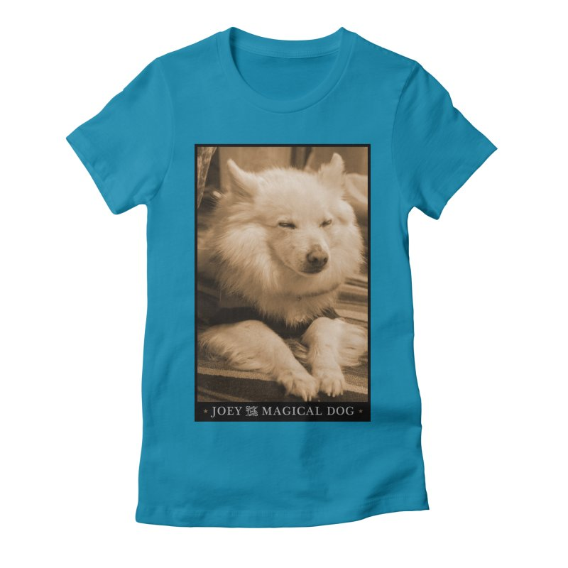 Joey Asleep Sepia Tone Women's Fitted T-Shirt by Joey The Magical Dog