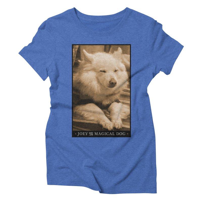 Joey Asleep Sepia Tone Women's Triblend T-Shirt by Joey The Magical Dog
