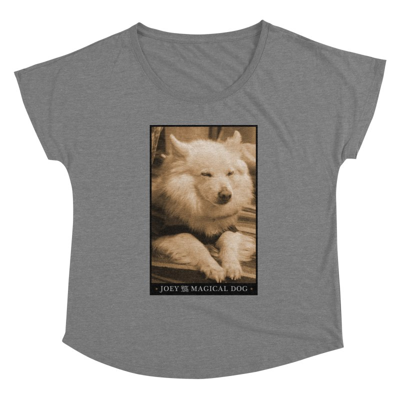 Joey Asleep Sepia Tone Women's Scoop Neck by Joey The Magical Dog
