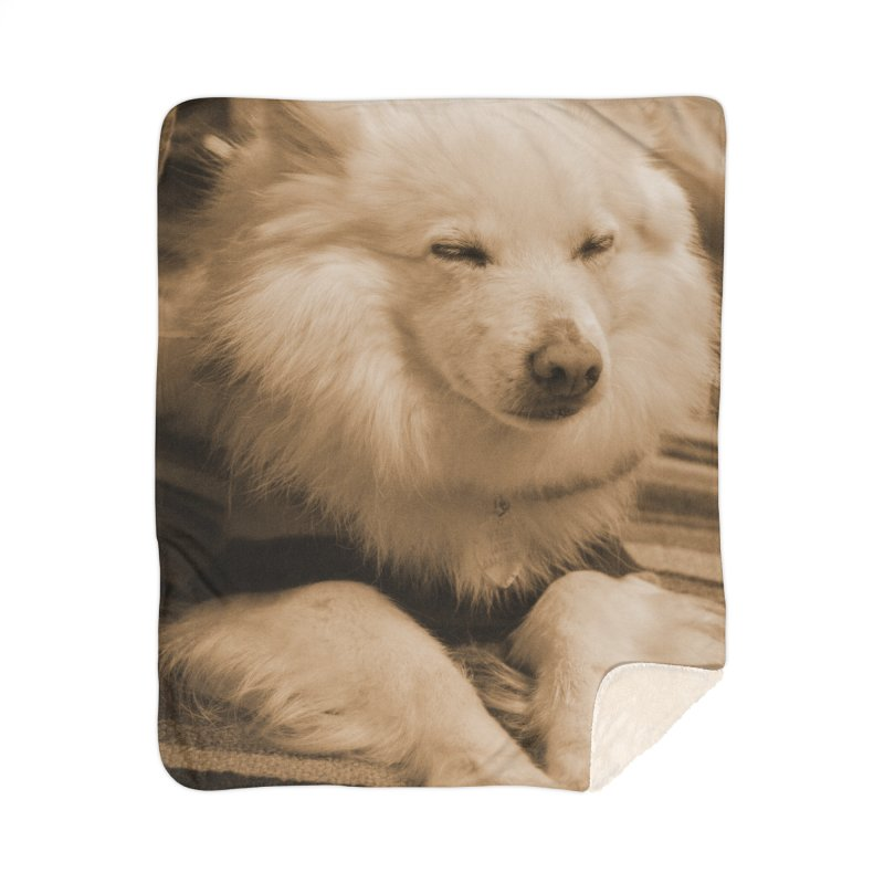 Joey Asleep Sepia Tone Home Blanket by Joey The Magical Dog