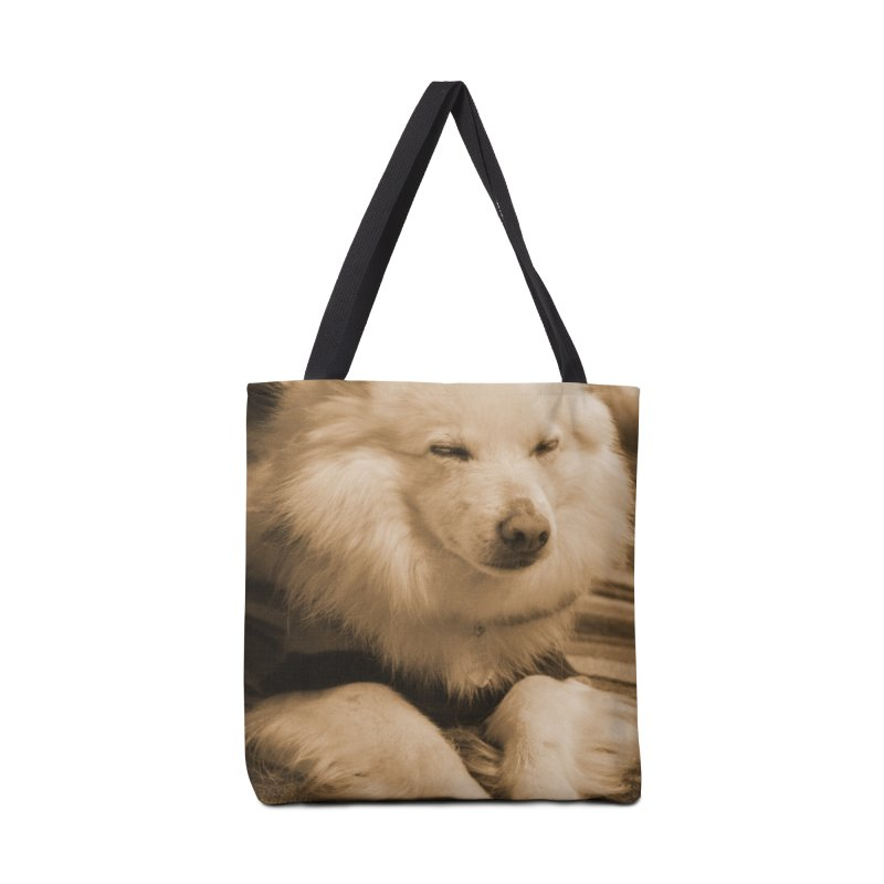 Joey Asleep Sepia Tone Accessories Bag by Joey The Magical Dog