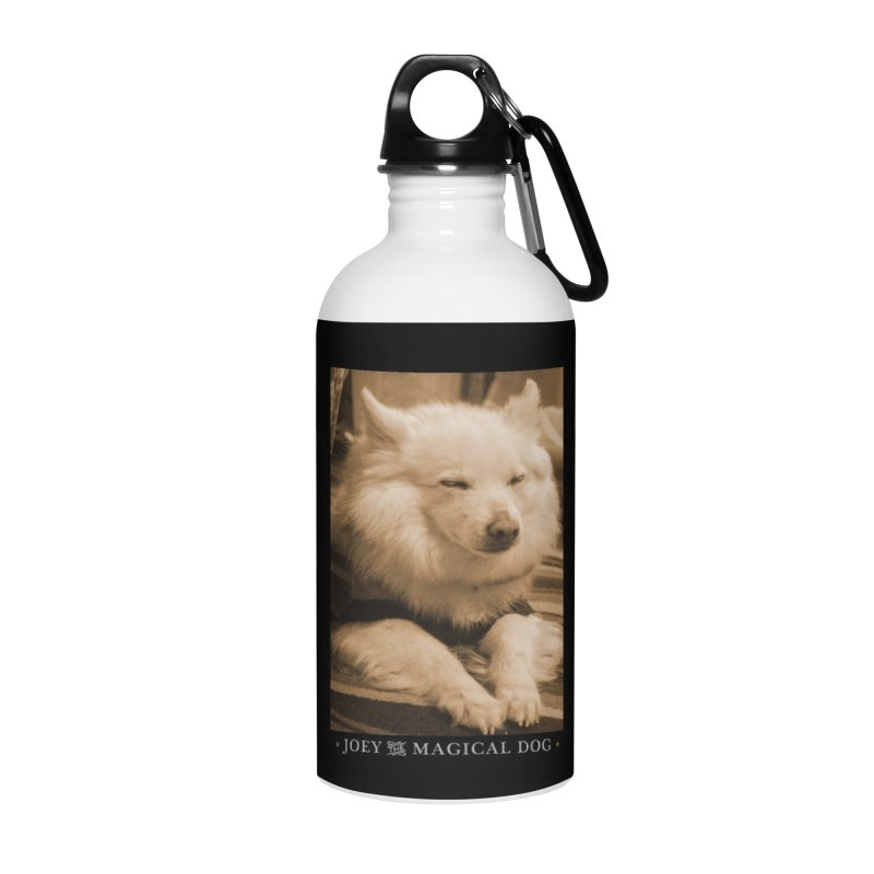 Joey Asleep Sepia Tone Accessories Water Bottle by Joey The Magical Dog
