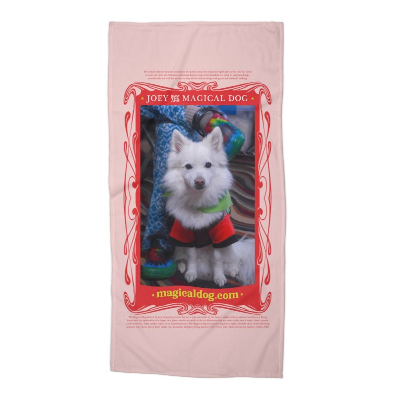 Joey The Magical Dog Poster Accessories Beach Towel by Joey The Magical Dog