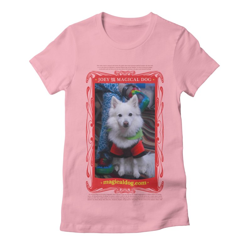 Joey The Magical Dog Poster Women's Fitted T-Shirt by Joey The Magical Dog