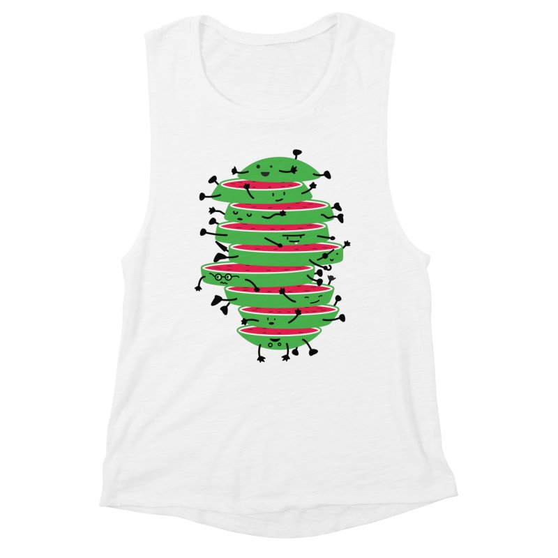 Sliced Women's Muscle Tank by magicmagic