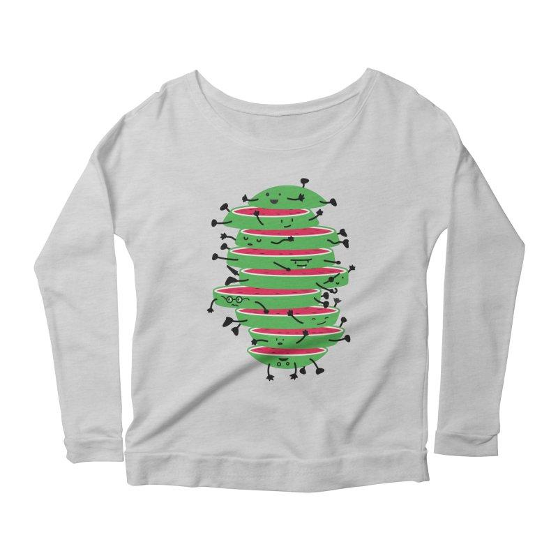Sliced Women's Scoop Neck Longsleeve T-Shirt by magicmagic