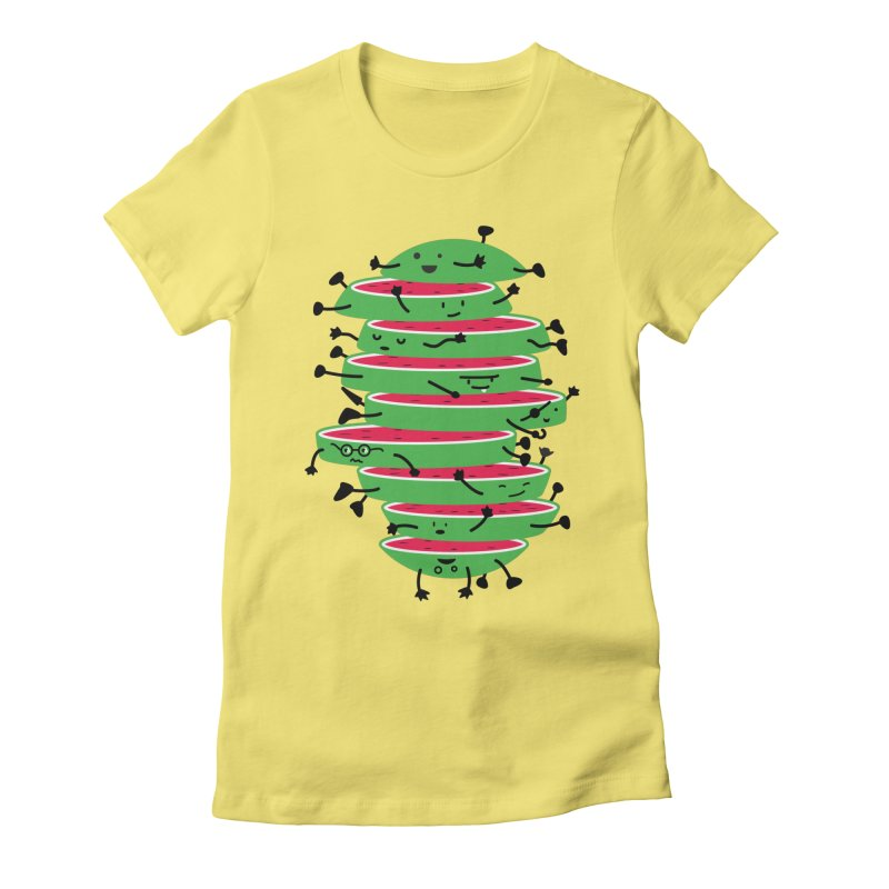 Sliced Women's Fitted T-Shirt by magicmagic