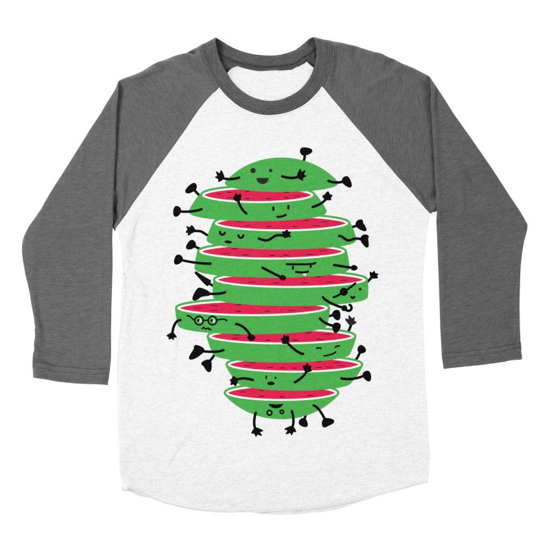 The tough life of a watermelon Women's Baseball Triblend T-Shirt by MagicMagic Artist Shop