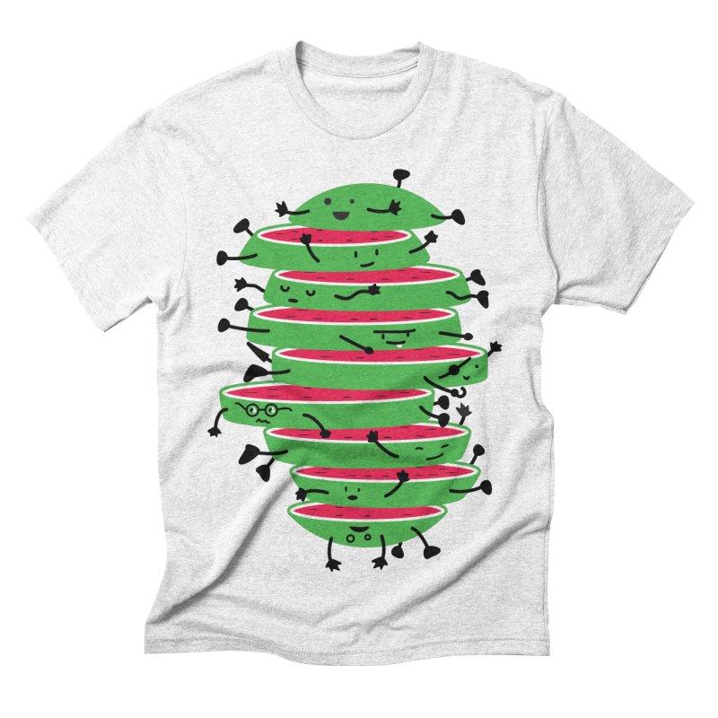 The tough life of a watermelon Men's Triblend T-shirt by MagicMagic Artist Shop