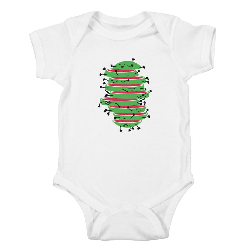 The tough life of a watermelon Kids Baby Bodysuit by MagicMagic Artist Shop
