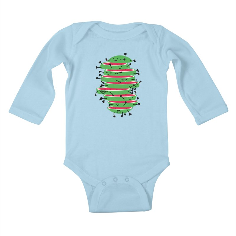 The tough life of a watermelon Kids Baby Longsleeve Bodysuit by MagicMagic Artist Shop