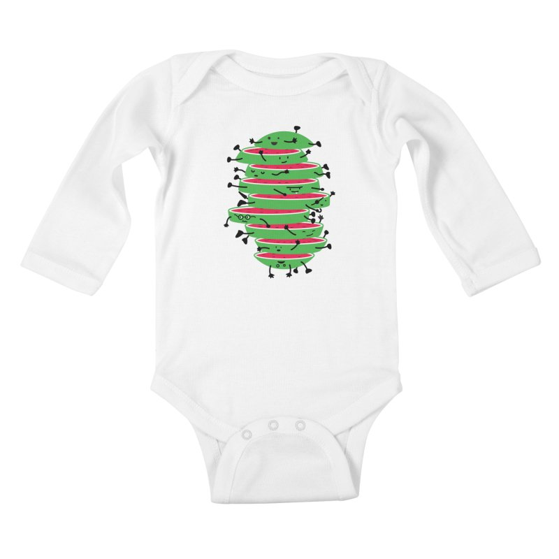 The tough life of a watermelon Kids Baby Longsleeve Bodysuit by magicmagic