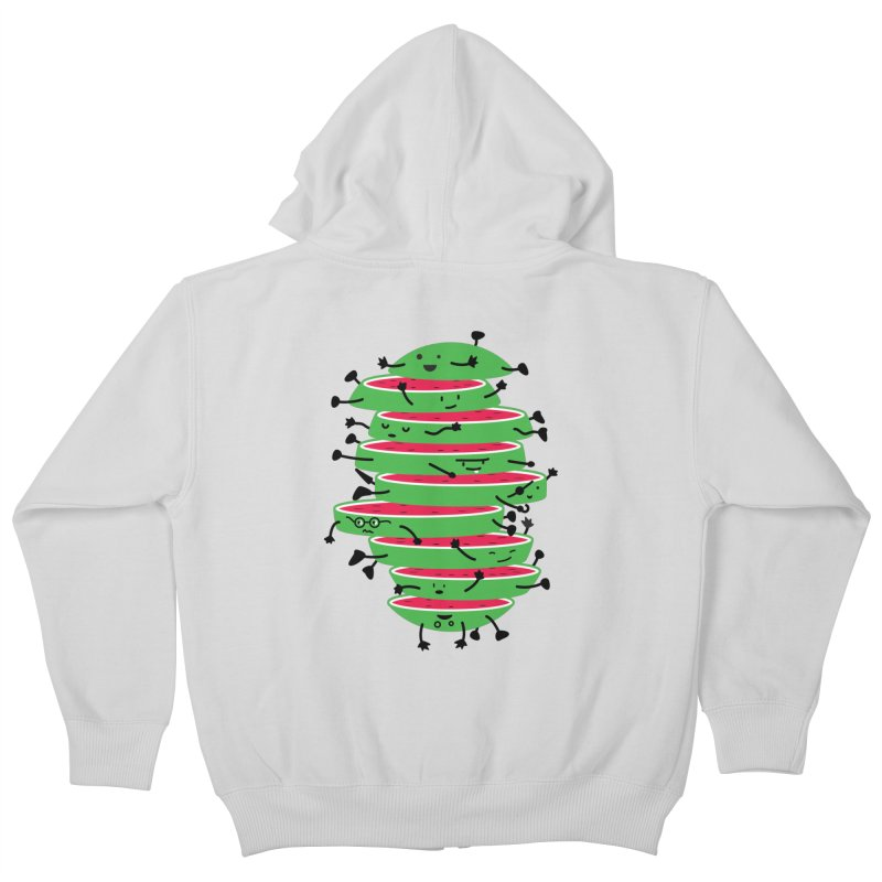The tough life of a watermelon Kids Zip-Up Hoody by MagicMagic Artist Shop