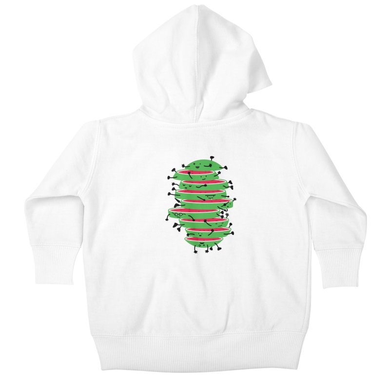 The tough life of a watermelon Kids Baby Zip-Up Hoody by magicmagic
