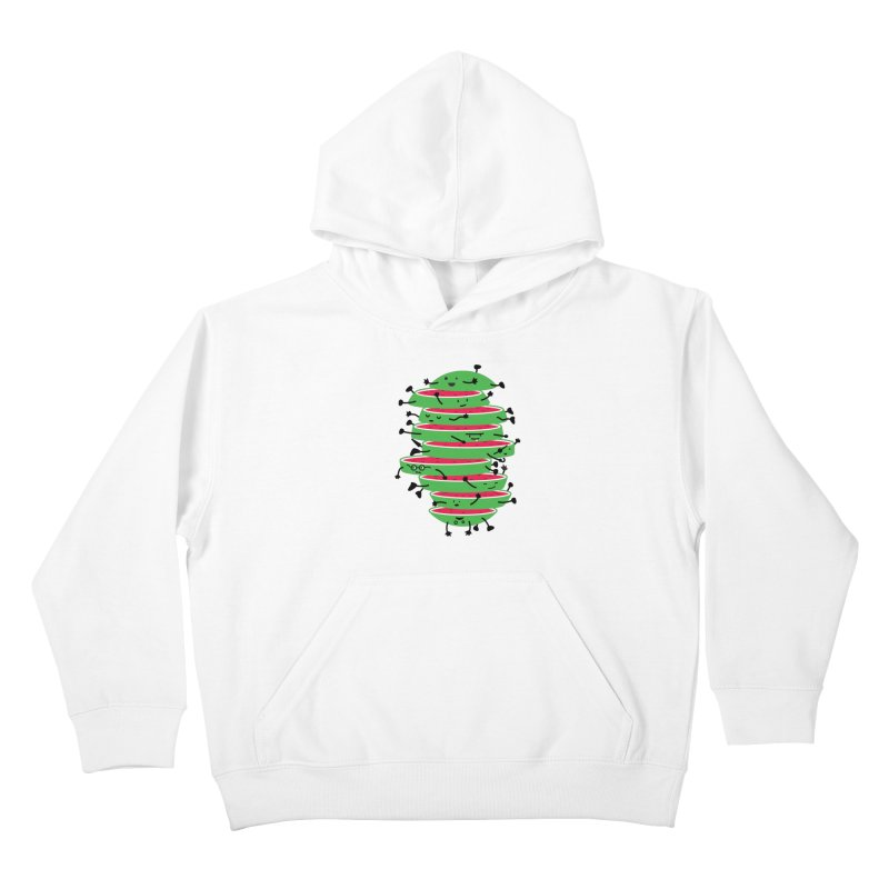 The tough life of a watermelon Kids Pullover Hoody by MagicMagic Artist Shop