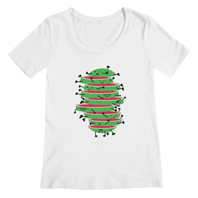 The tough life of a watermelon Women's Scoopneck by MagicMagic Artist Shop