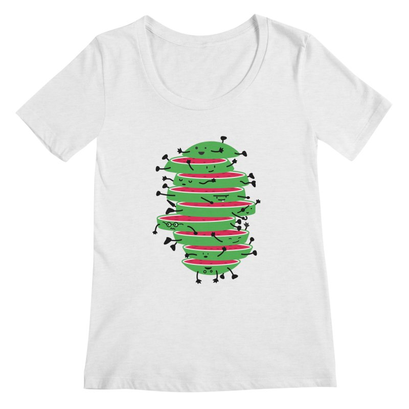 The tough life of a watermelon Women's Regular Scoop Neck by magicmagic