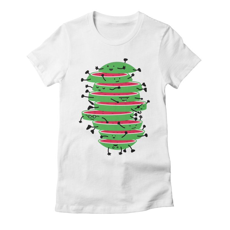 The tough life of a watermelon Women's Fitted T-Shirt by MagicMagic Artist Shop
